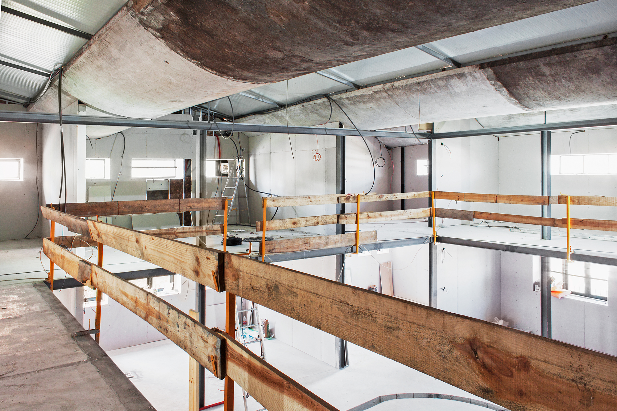 co.working center candal park, rehabilitation phase, 2017