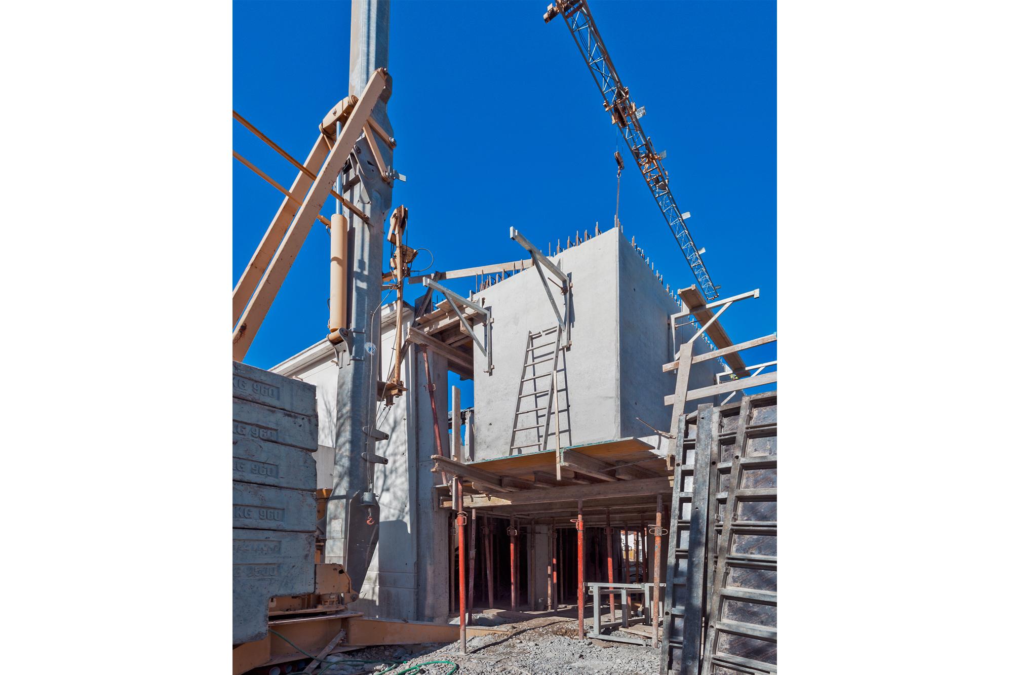 antunes guimarães 1003 house, construction phase, 2017
