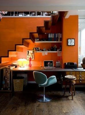 - ORANGE is a great choice for brain storming sessions, stimulating creativity and endurance. An orange chair anyone?
