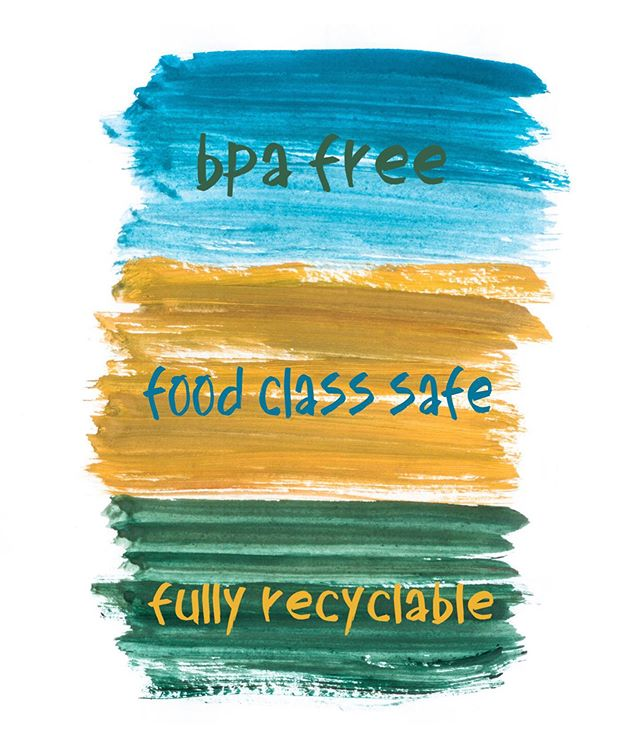 We are:  #bpafree #foodclasssafe #recyclable #kidscups #jojocups #thrillsnotspills
