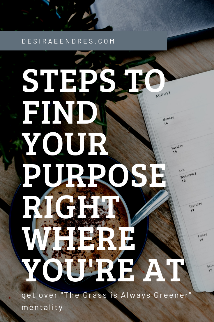 steps to finding your purpose