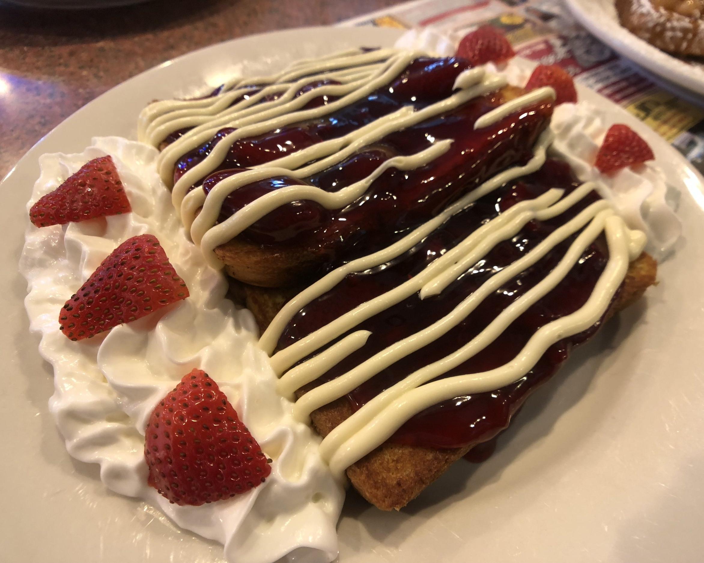 Stuffed Strawberry Cheesecake French Toast
