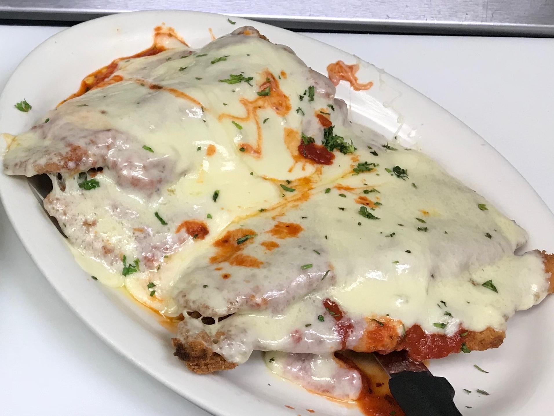 Chicken Parmigiana w/Spaghetti