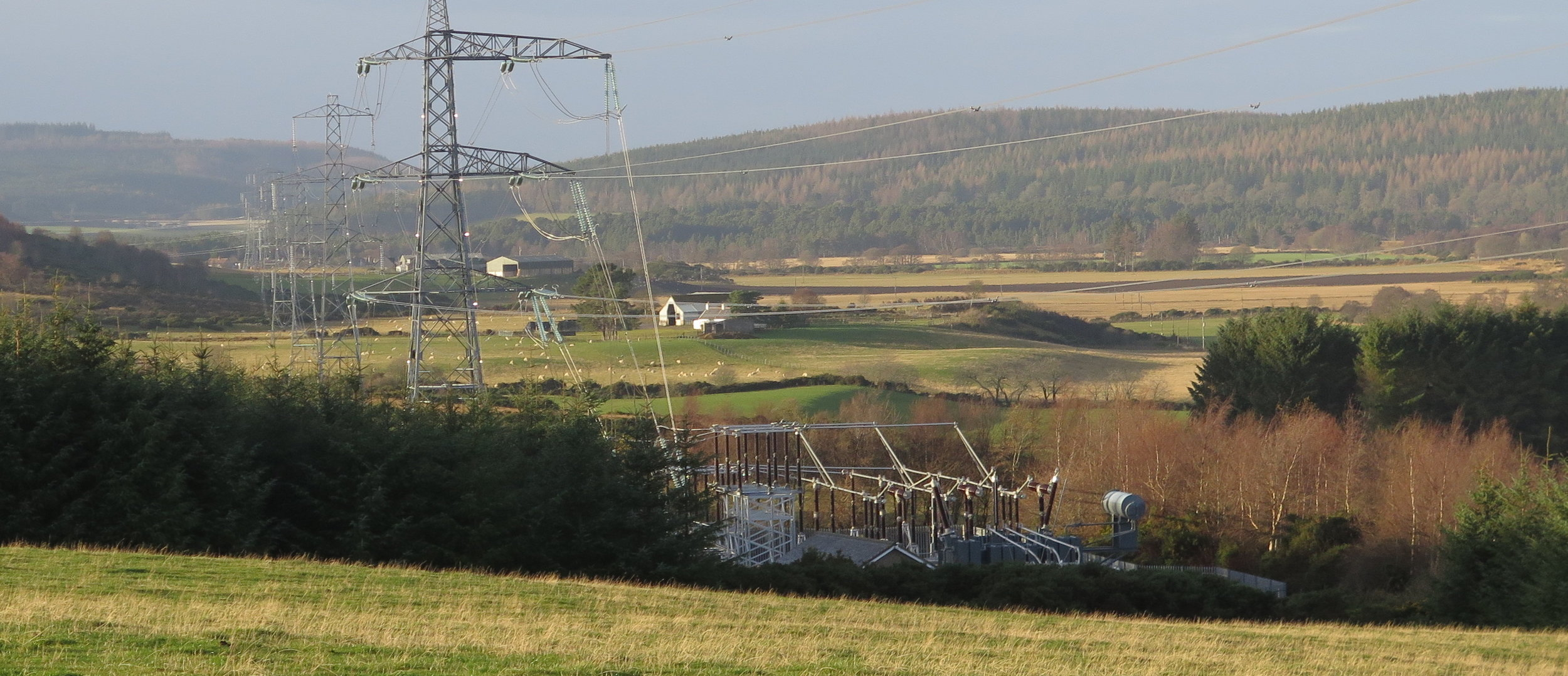 New developments are likely to need additional pylon lines & substations across Moray