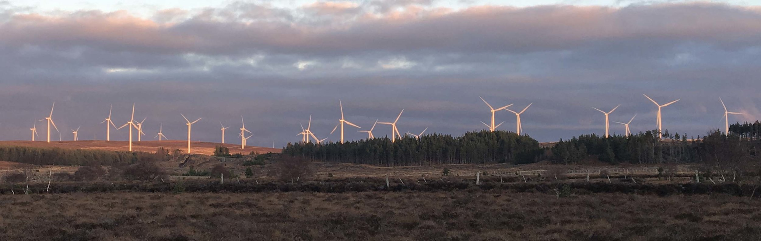 Part of Fred Olsens existing development at Rothes 1 & 2. Their THIRD extension threatens a further 29 Turbines, MOST up to 225 metres tall.
