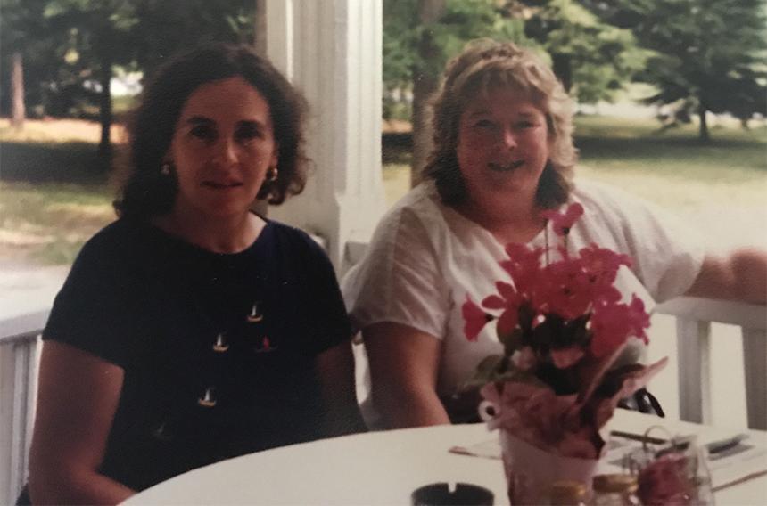 FRIENDS FOR 45 YEARS. MAREILLEN (L) HELEN (R)