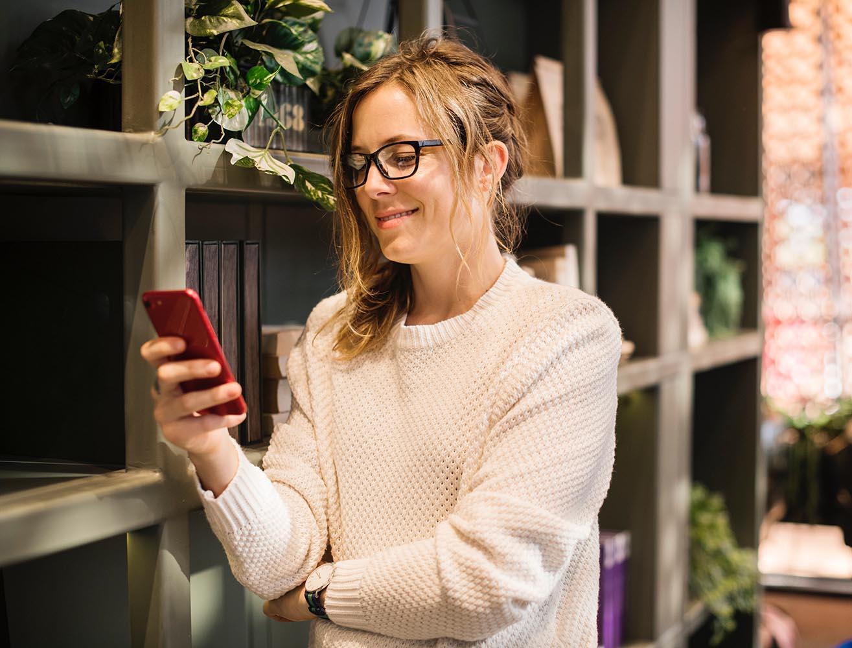 Lonely woman looking phone.jpg