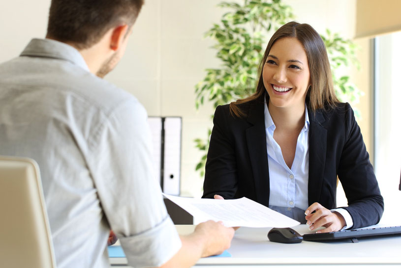 young woman relaxed in job interview.jpg