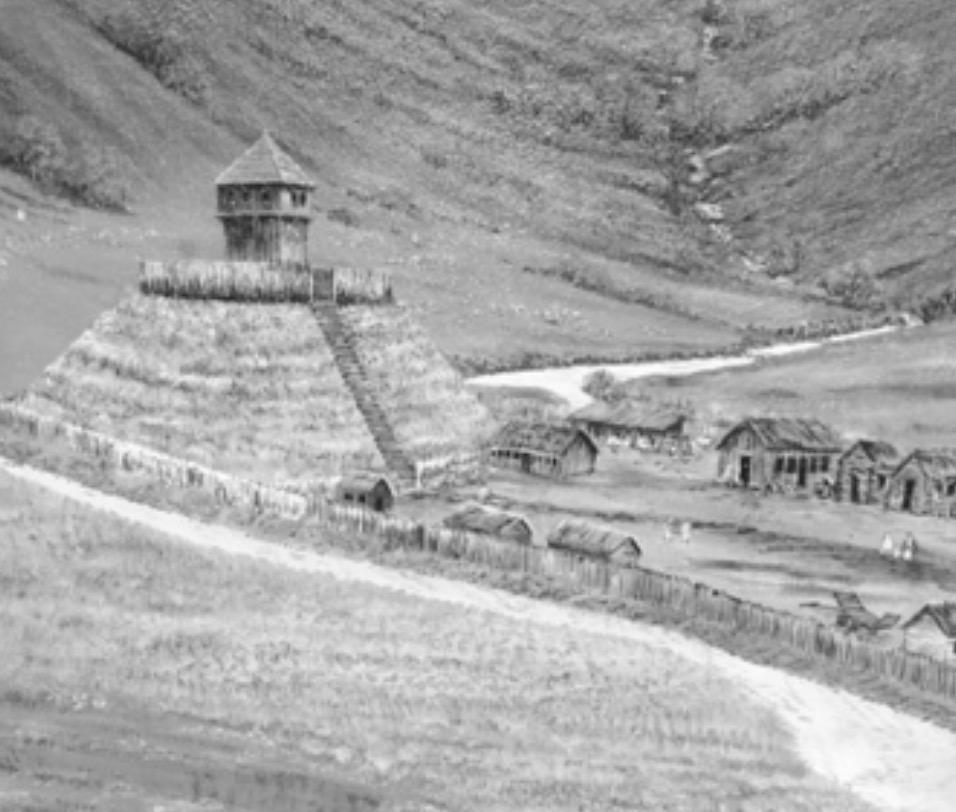 A traditional Motte & Bailey Castle
