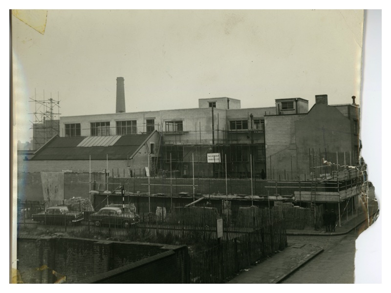 C86A Construction of new Brady building - New Wing