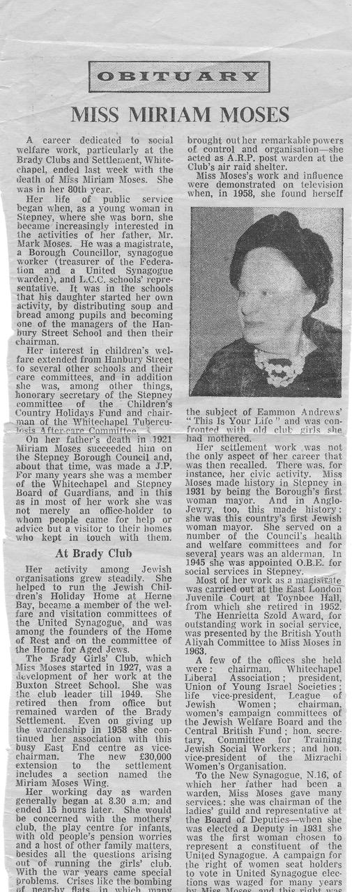 D2000 Miriam Moses Obituary