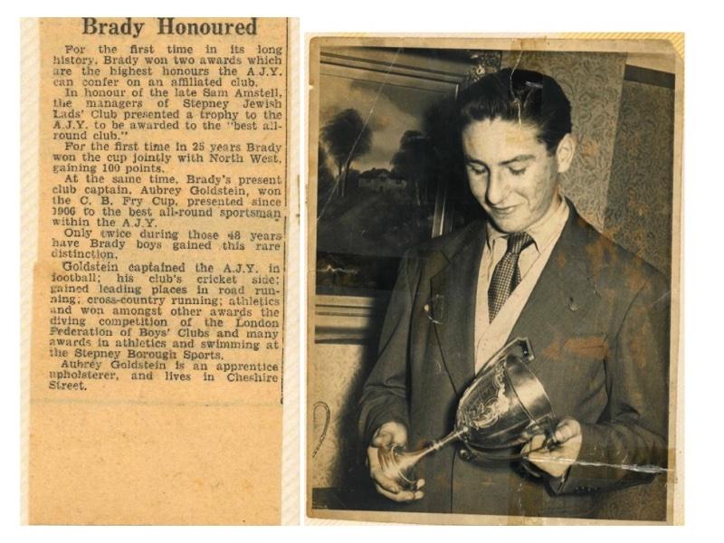 B2028 C.B. Fry Cup (1952) Best sportsman in the AJY – Aubrey Gordon