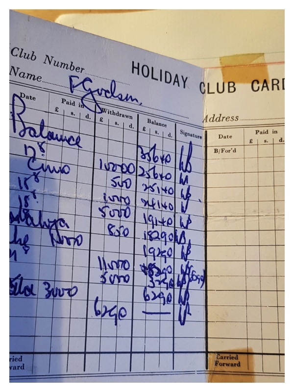 D2023 Contribution book (Brady Bank) for holiday payments
