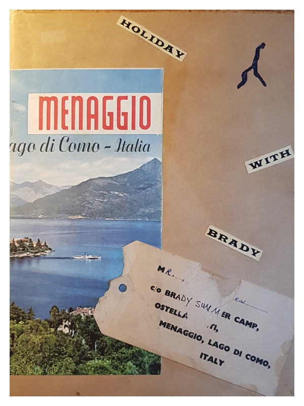 D2047 The covers of Frank Godson's scrap book covering the 1960 holiday to Menaggio (1)