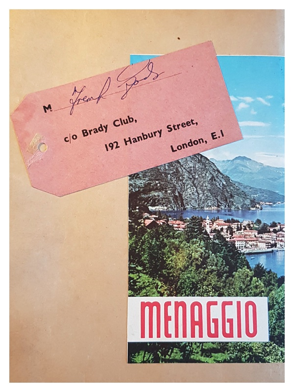D2048 The covers of Frank Godson's scrap book covering the 1960 holiday to Menaggio (2)