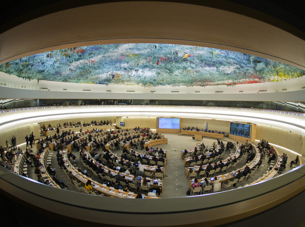 The DRC was elected to join the UN Human Rights Council, seen meeting in Geneva (Flickr)
