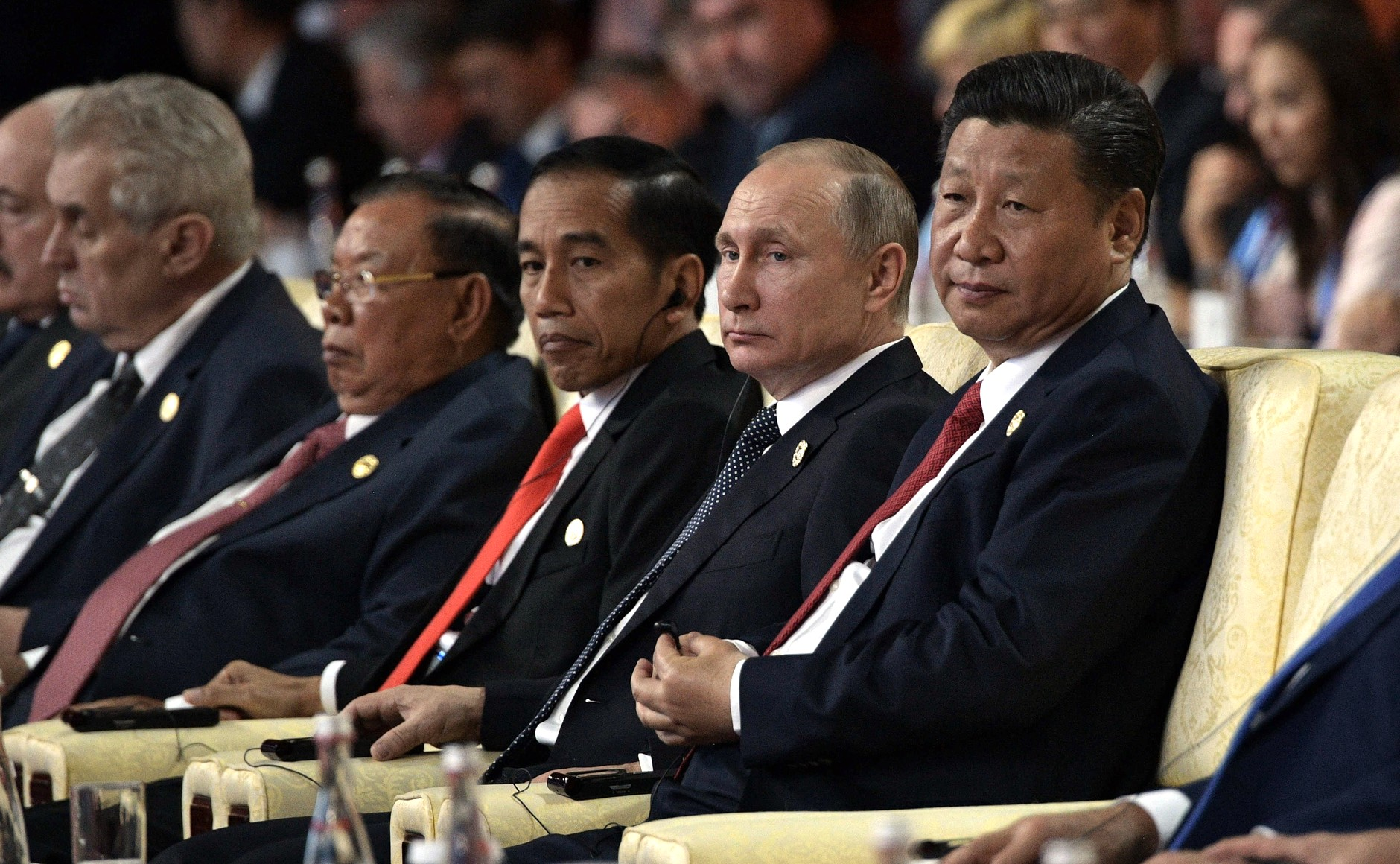 PRC President Xi Jinping at the Belt and Road international forum in 2017