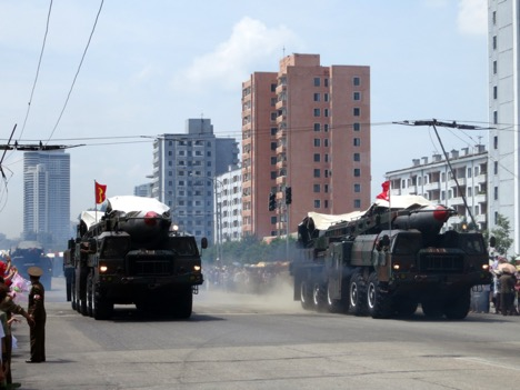 North Korea's ballistic missiles on parade in Pyongyang