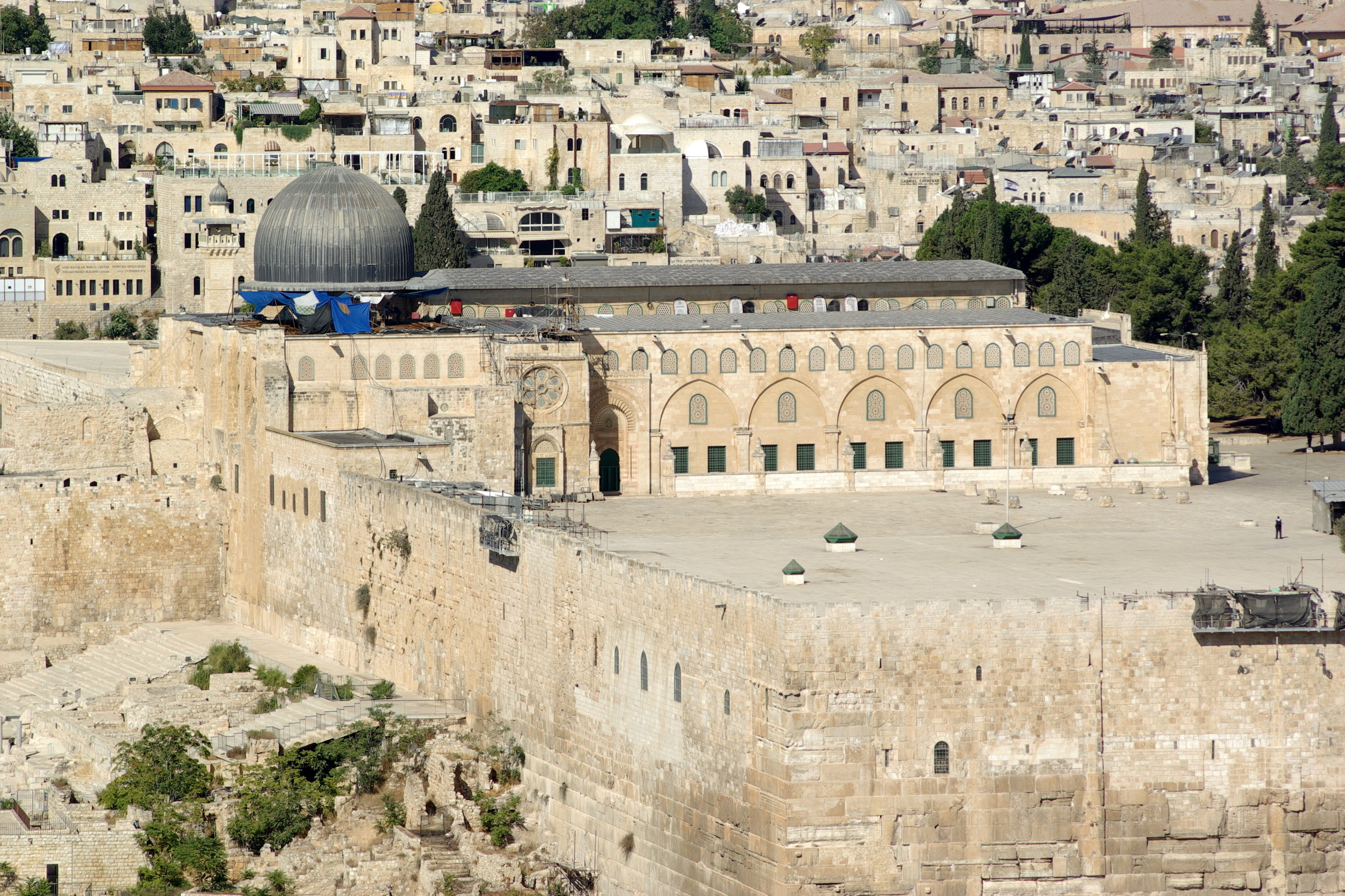 Al-Aqsa Mosque, located in Jerusalem's old city, is Islam's third holiest site. (Wikimedia Commons)