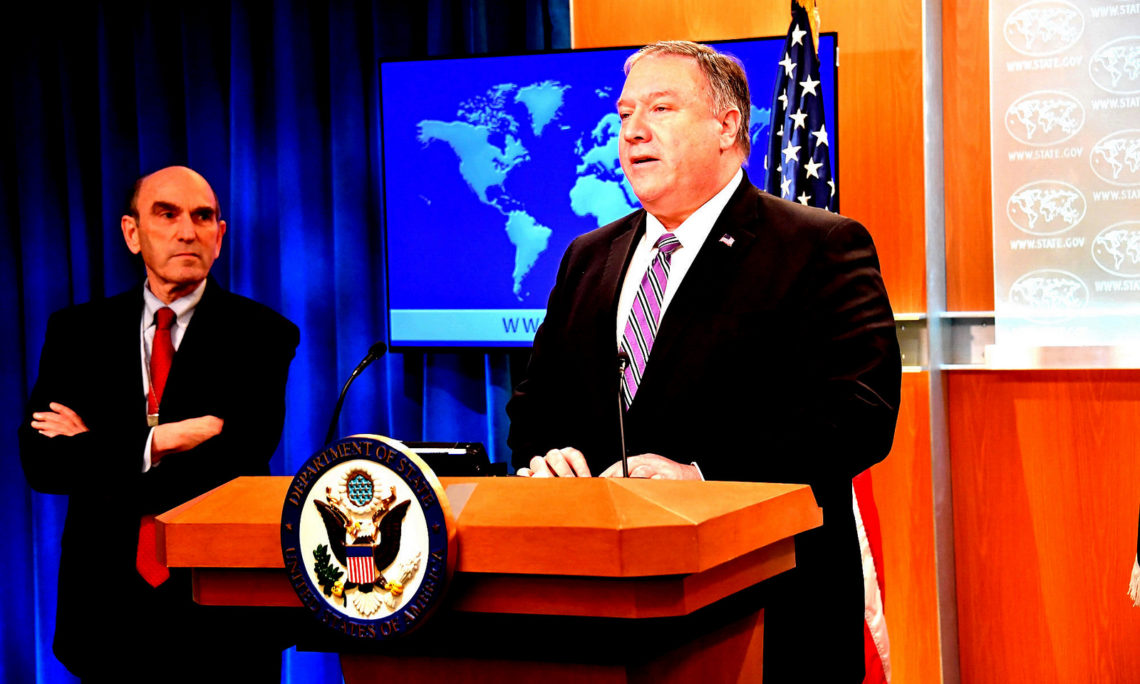 U.S. Secretary of State Pompeo gives remarks to the Organization of American States on the crisis in Venezuela. (US Mission to the OAS)