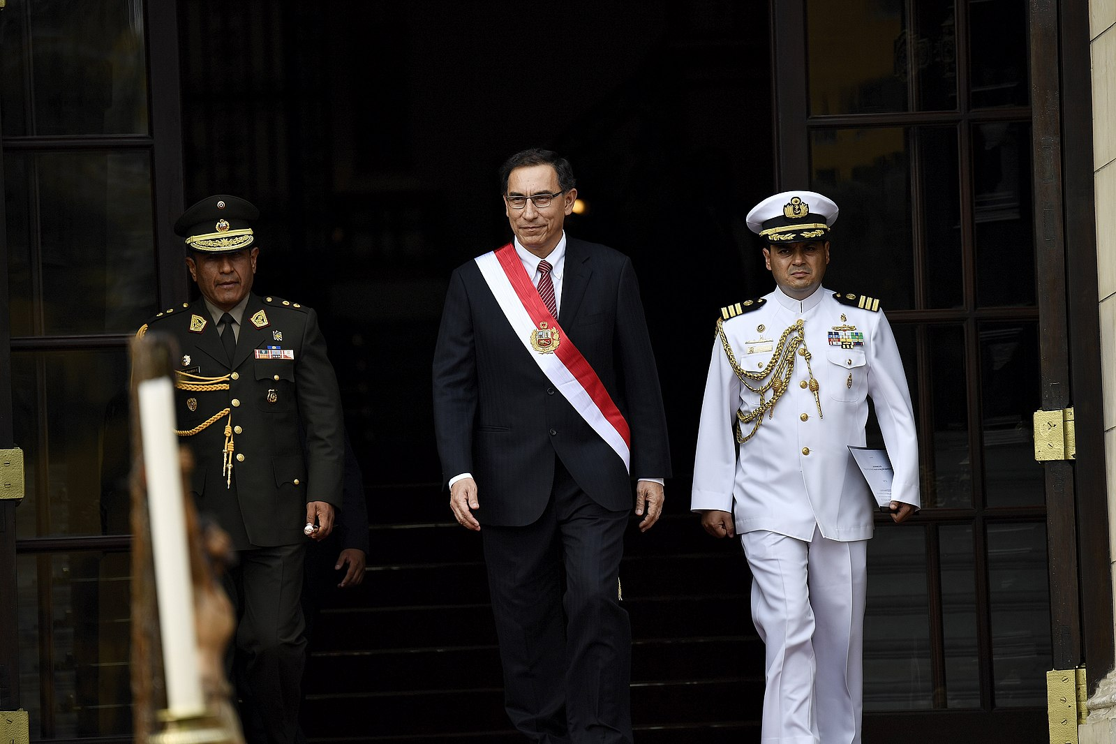 President Martín Vizcarra attends the swearing-in of his cabinet. (flickr)
