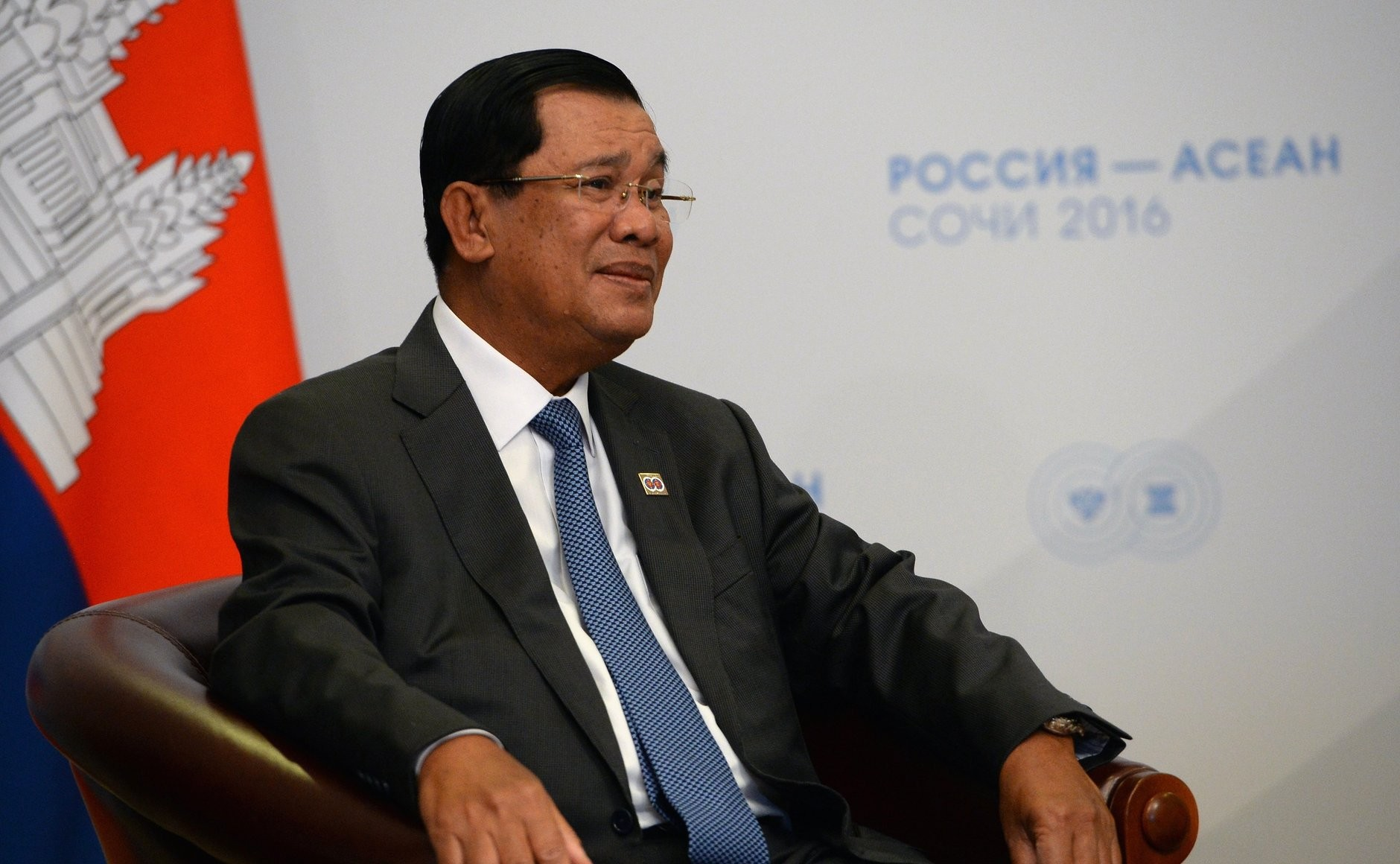 Prime Minister Hun Sen became the leader of an effectively one-party Cambodia in his July 2018 re-election, whose legitimacy has been challenged. (Kremlin)