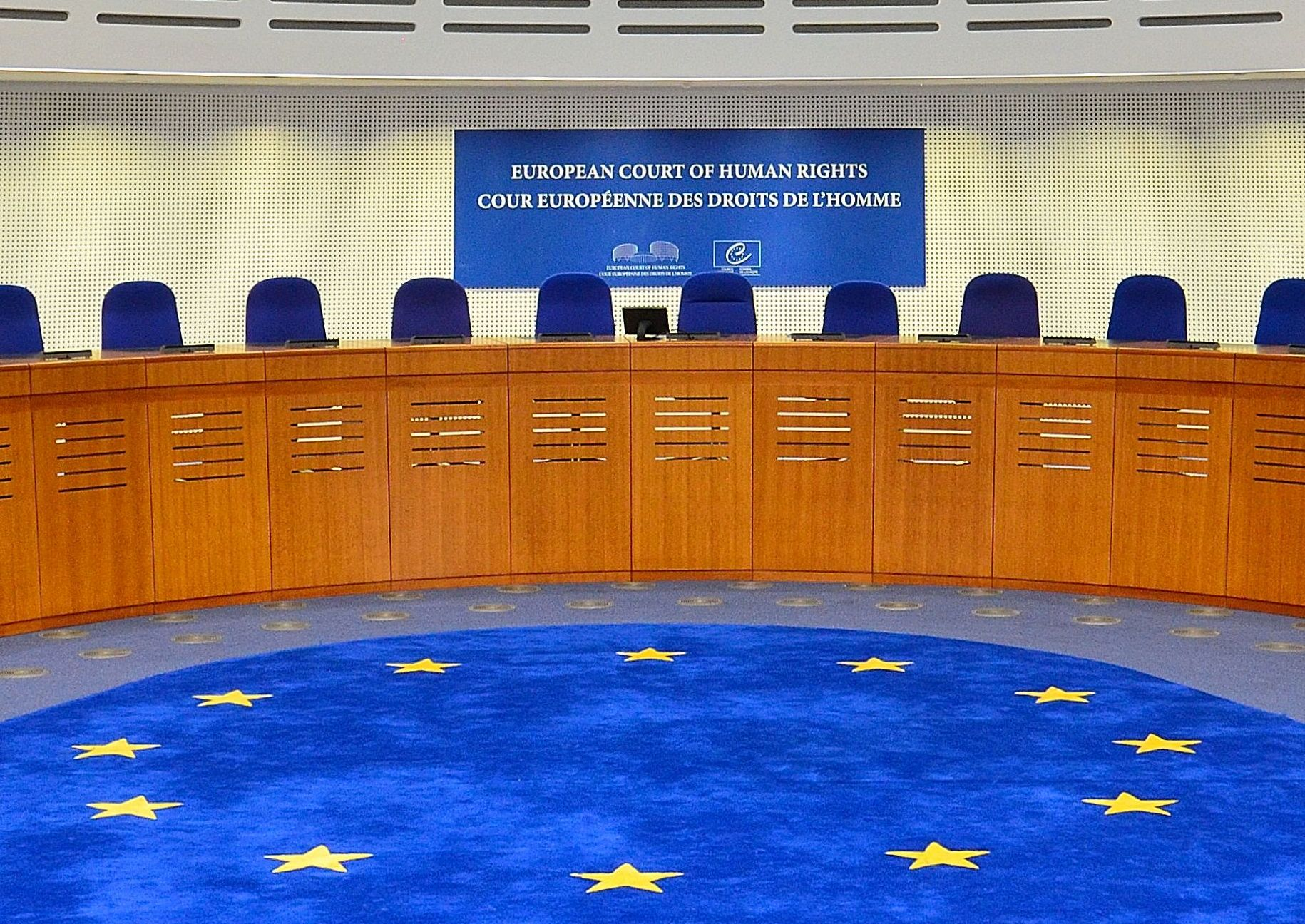 The court room of the European Court of Human Rights. (Wikimedia Commons)