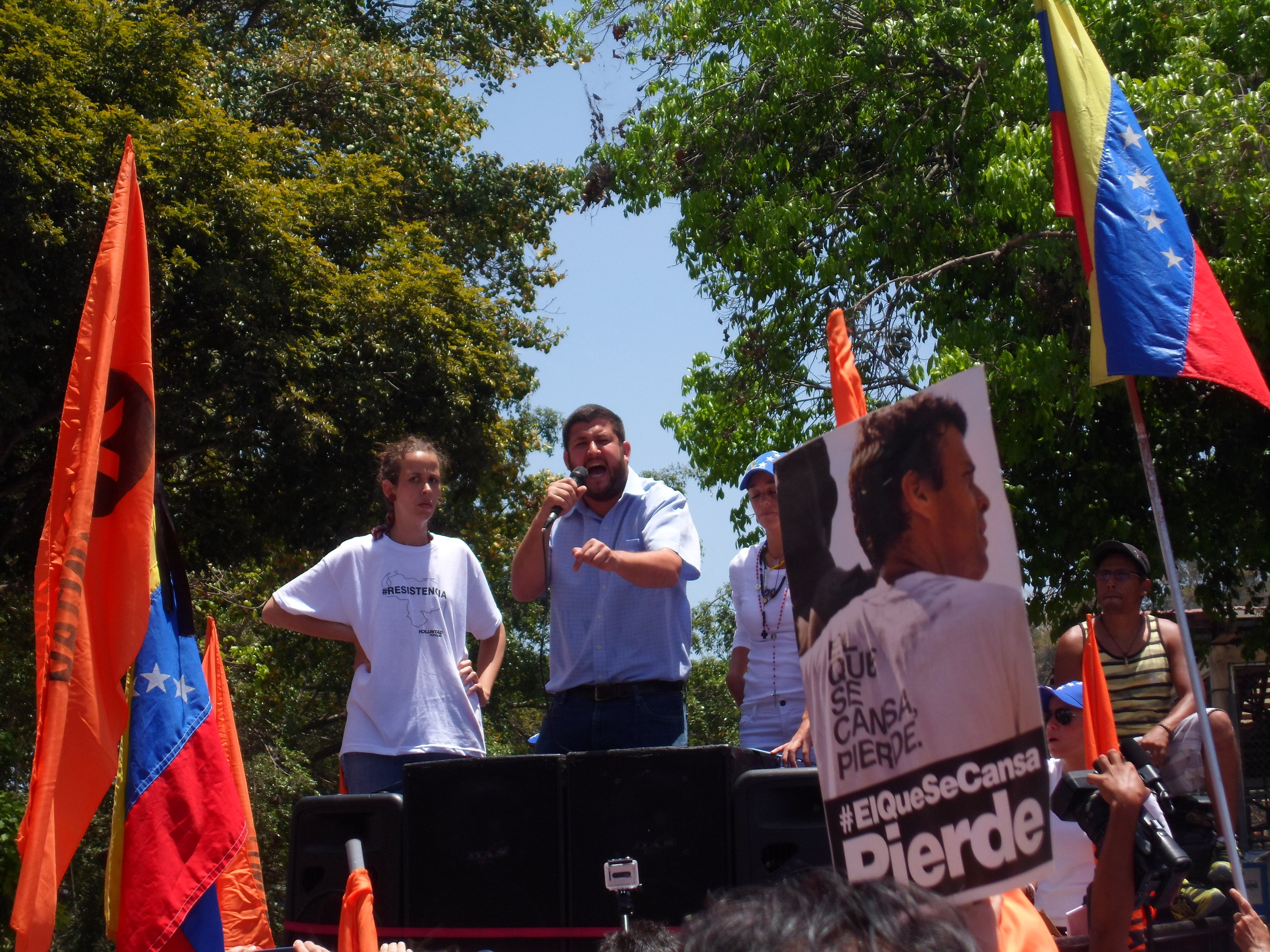 David Smolansky speaks at an opposition rally in Venezuela in 2014. (Wikimedia Commons)