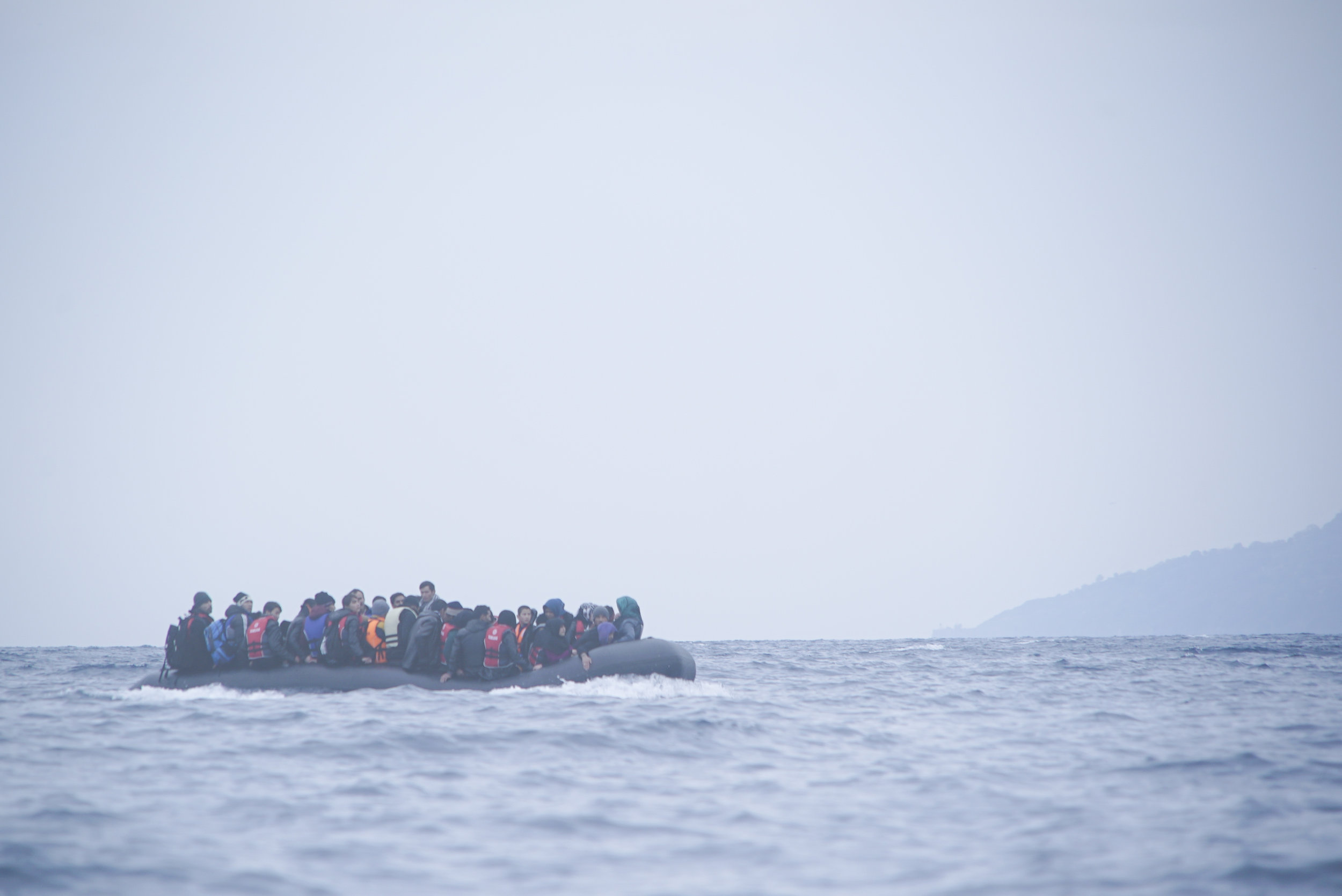 Refugees attempt to cross the Mediterranean sea to reach Greece, a member of the European Union, in 2016. (Wikimedia Commons)