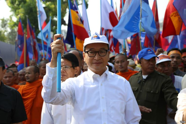 Sam Rainsy, exiled opposition leader and president of the court-dissolved Cambodia National Rescue Party, pledges to return to Cambodia in 2019.