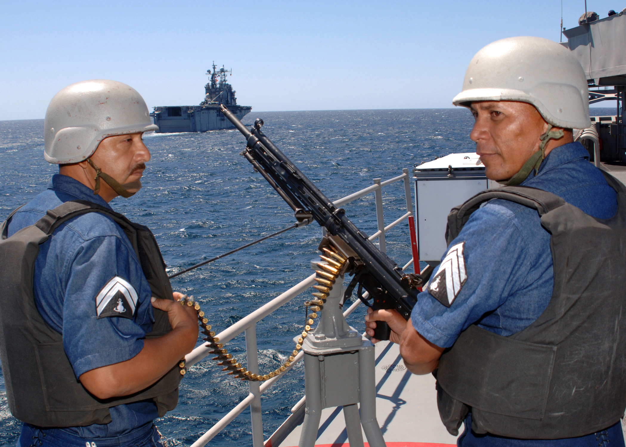 Mexican Navy soldiers use Heckler & Koch during a training drill with the U.S. Navy. (U.S. Navy Communications)