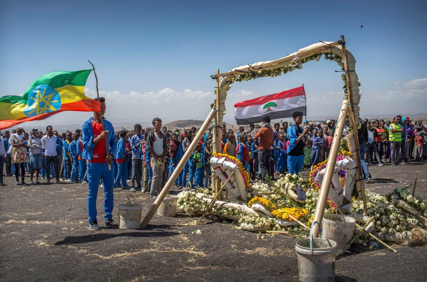 A memorial for the victims of the crashed Ethiopian Airlines flight 302. ( Washington Post)