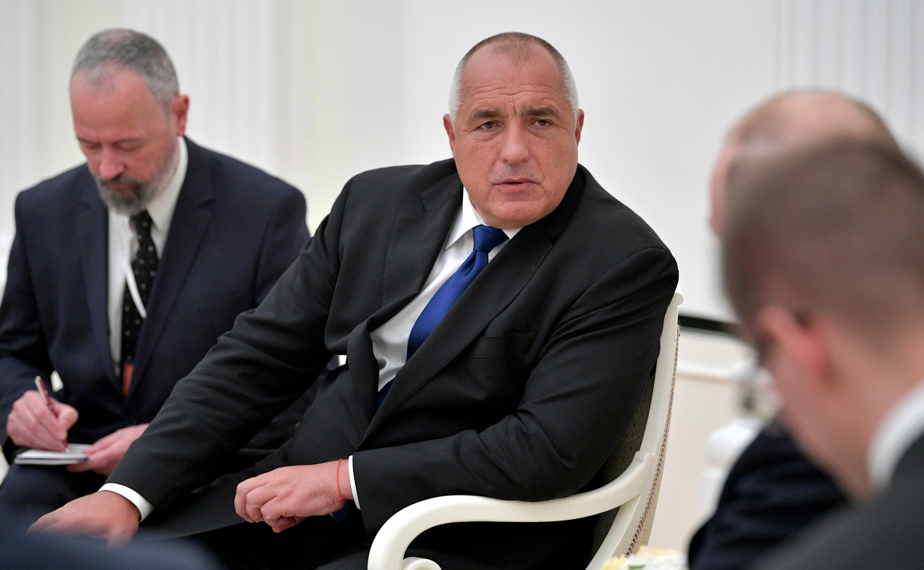 Bulgarian Prime Minister Boyko Borissov pictured in 2018 at the Kremlin meeting with Russian President Vladimir Putin. (The Kremlin)