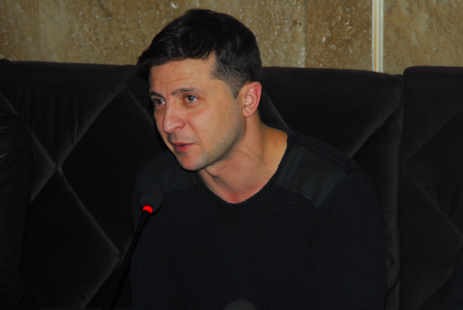 Ukrainian presidential candidate Volodymyr Zelensky pictured in December 2018. (Wikimedia)