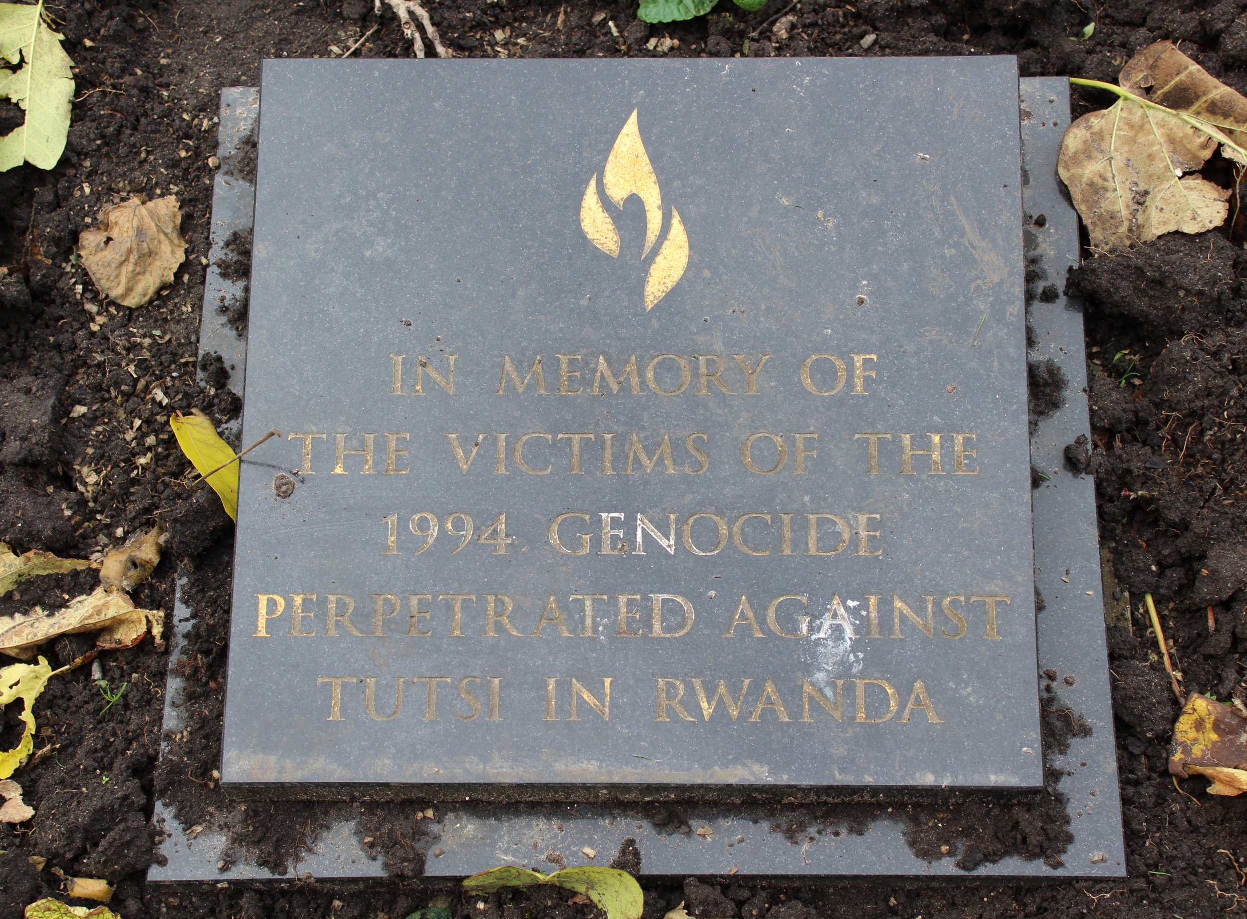 A memorial in Liverpool honors the Rwandans killed in the 1994 genocide. (Wikimedia Commons)