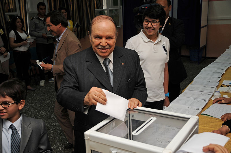 President Abdelaziz Bouteflika casts a ballot in Algeria's legislative election in 2012. ( Wikimedia Commons )