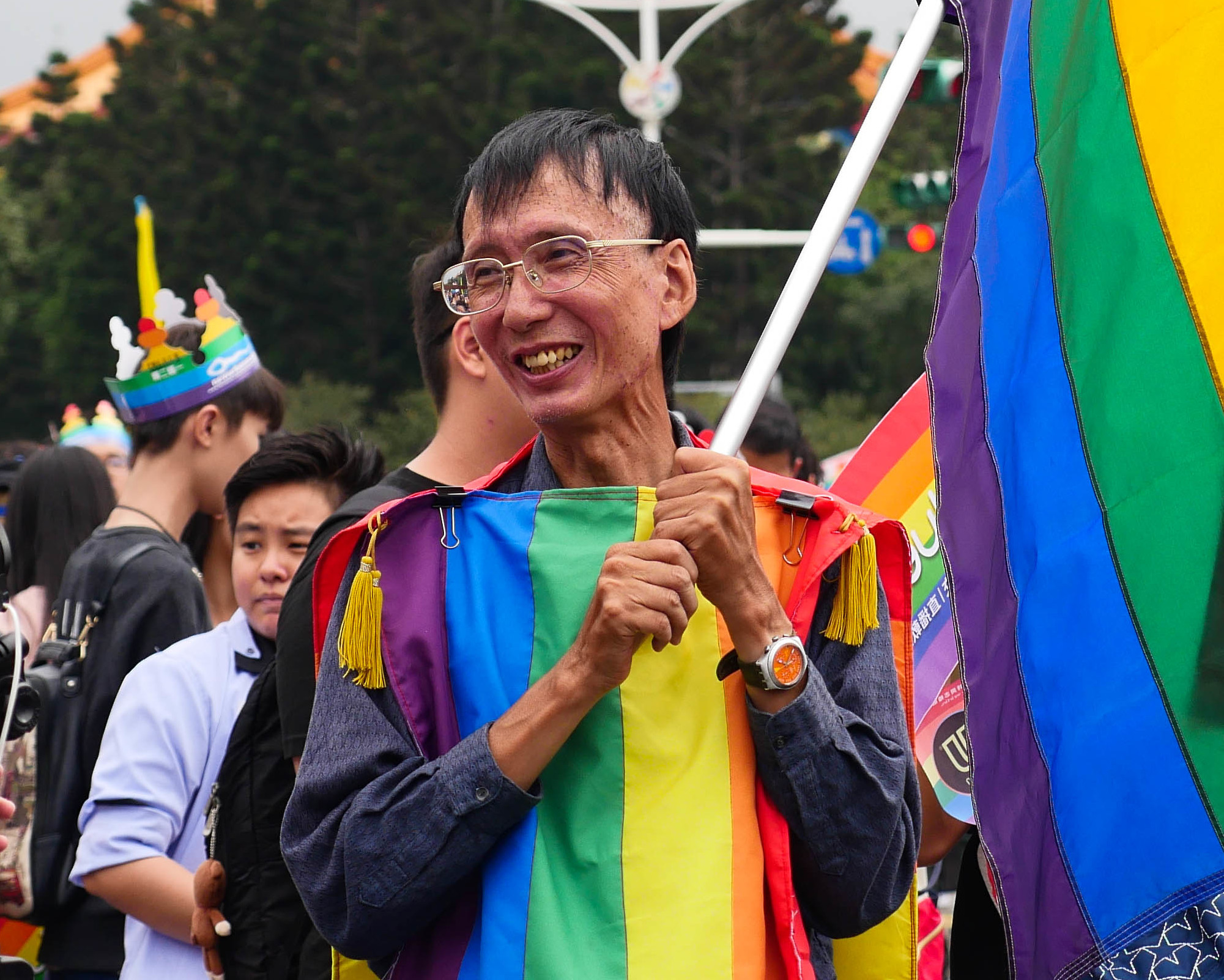 LGBT rights activist Chi Chia-wei participates in a Pride march in Taipei. (Wikimedia Commons)
