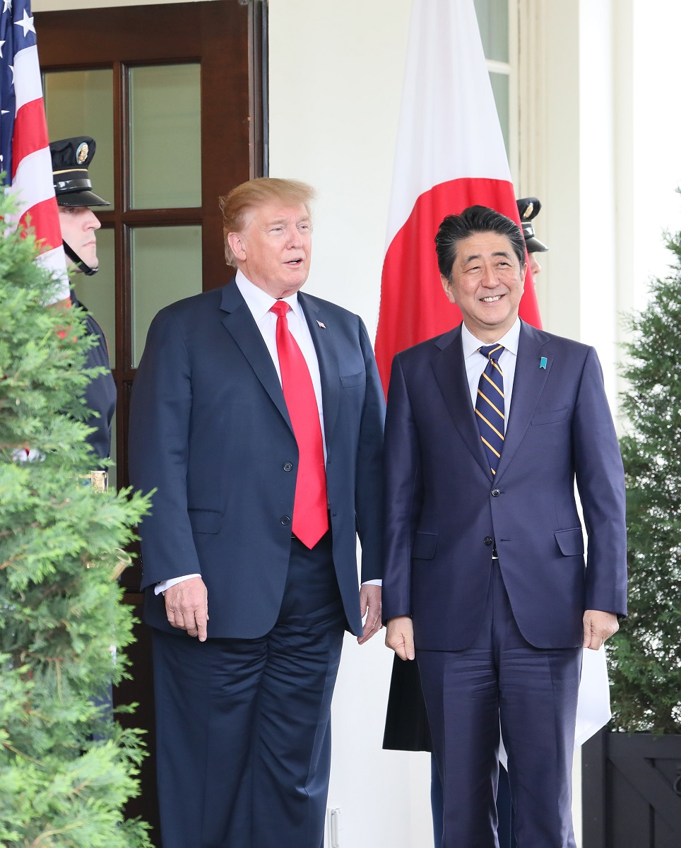 President Donald Trump and Japanese Prime Minister Shinzo Abe signed a partial trade deal in New York. (Wikimedia Commons)
