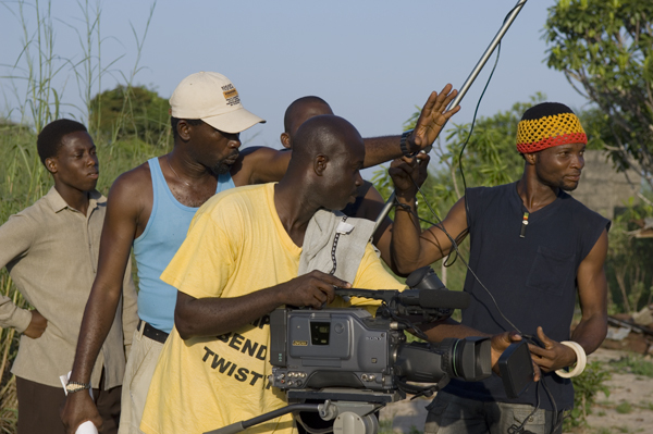Filmmakers shoot  This Is Nollywood , a 2007 documentary analyzing Nigeria's film industry. (Wikimedia Commons)