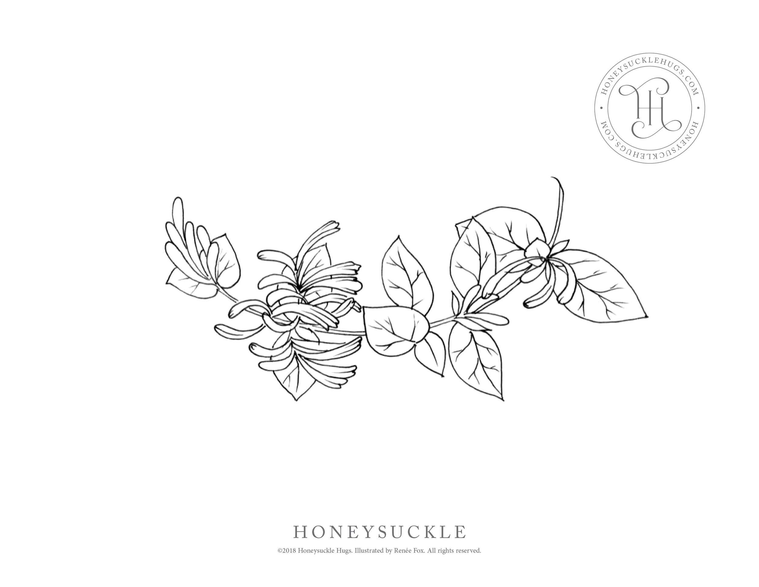 - FREE Coloring Pages — Honeysuckle Hugs