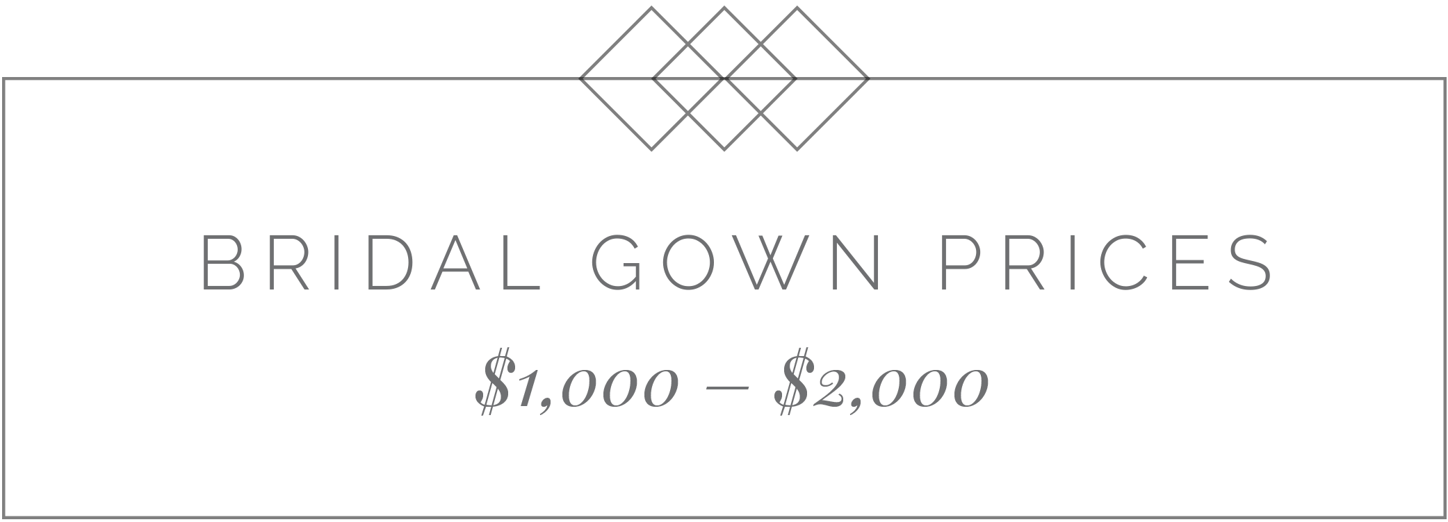 bridal gown prices $1,000-$2,000