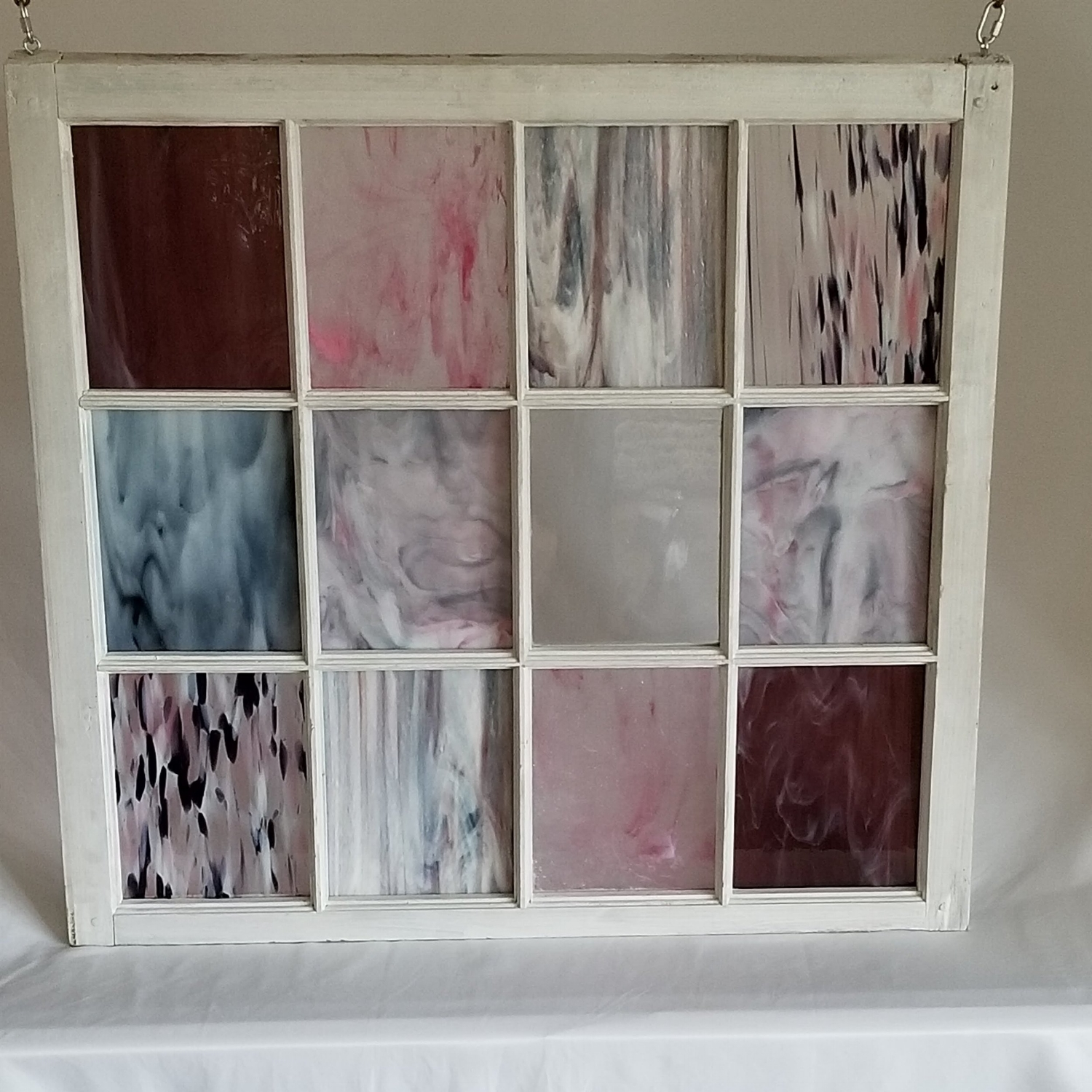 Pink Stained Glass Window