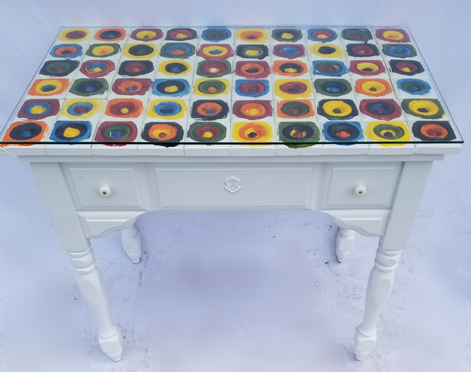 Sewing Bullseye Table