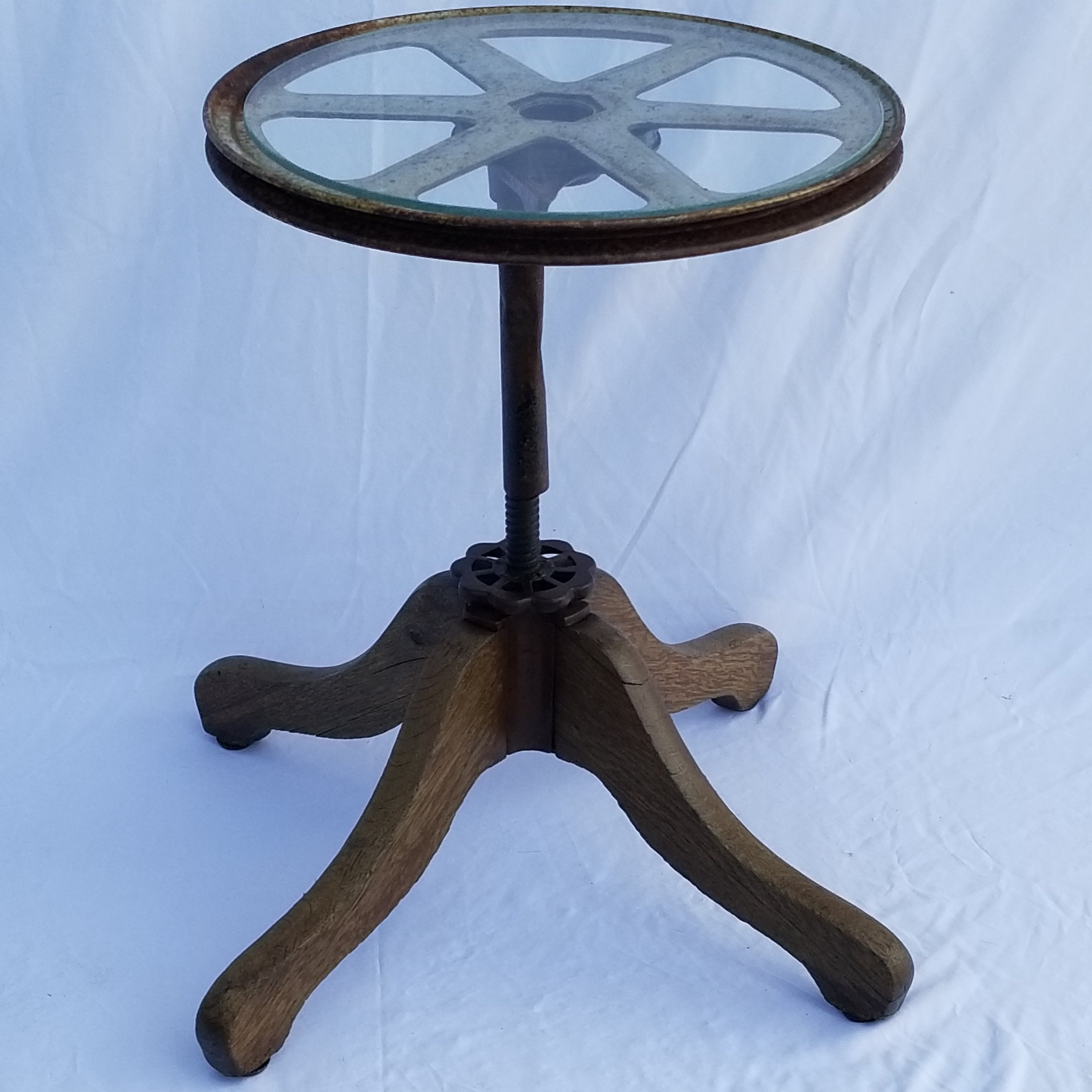 SOLD-Belted Wheel Table
