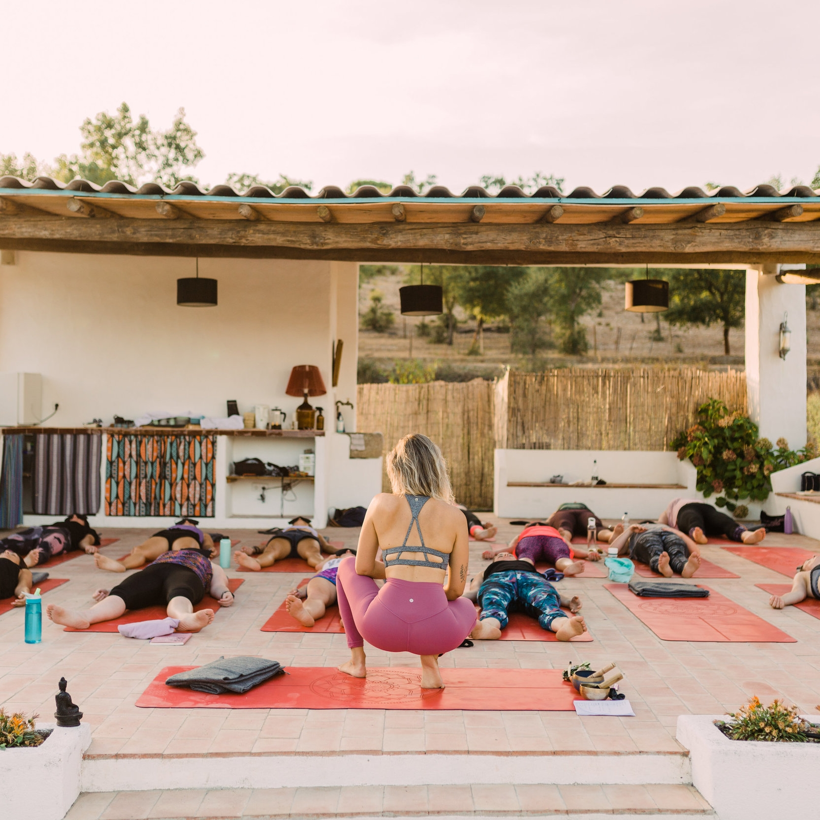 together we move - We move to feel good, to liberate ourselves, to find more space, to cleanse our body, to feel energised.In our retreat we bring the Yin and the Yang together offering different practices from meditation to dynamic vinyasa and HIIT class and restorative yoga.