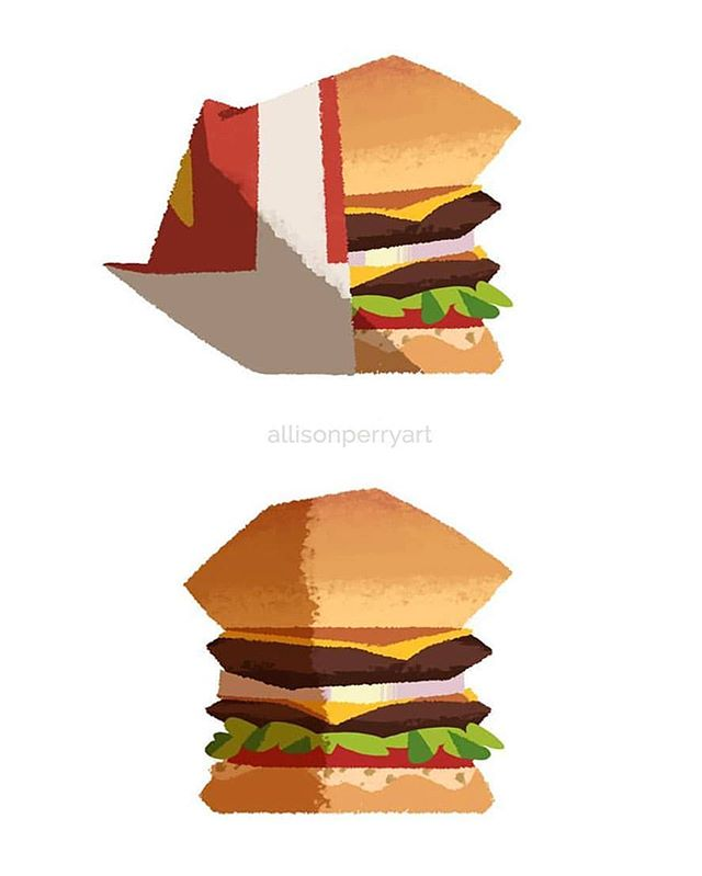 "Now that's what a hamburger's all about! Believe it or not, I actually really enjoy designing props most would consider ""mundane."" Adding character to, well... a character design is a given, but trying to add character to an inanimate object is a fun challenge and makes drawing just about anything interesting - it's actually the same reason I really enjoy backgrounds as well! What do you think: should I design more props in the future? Do you enjoy seeing this kind of content? Let me know in the comments, and thanks for looking! #innout #burger #hamburger #fastfood #cali #socal #westcoast #ca #calilfornia #propdesign #prop #stylized #animationstyle #animation #cartoon #visdev #visualdevelopment #conceptart #illustration #concept #sketch #instaart #doodle #digitalart #digital #allisonperry #allisonperryart @innout"
