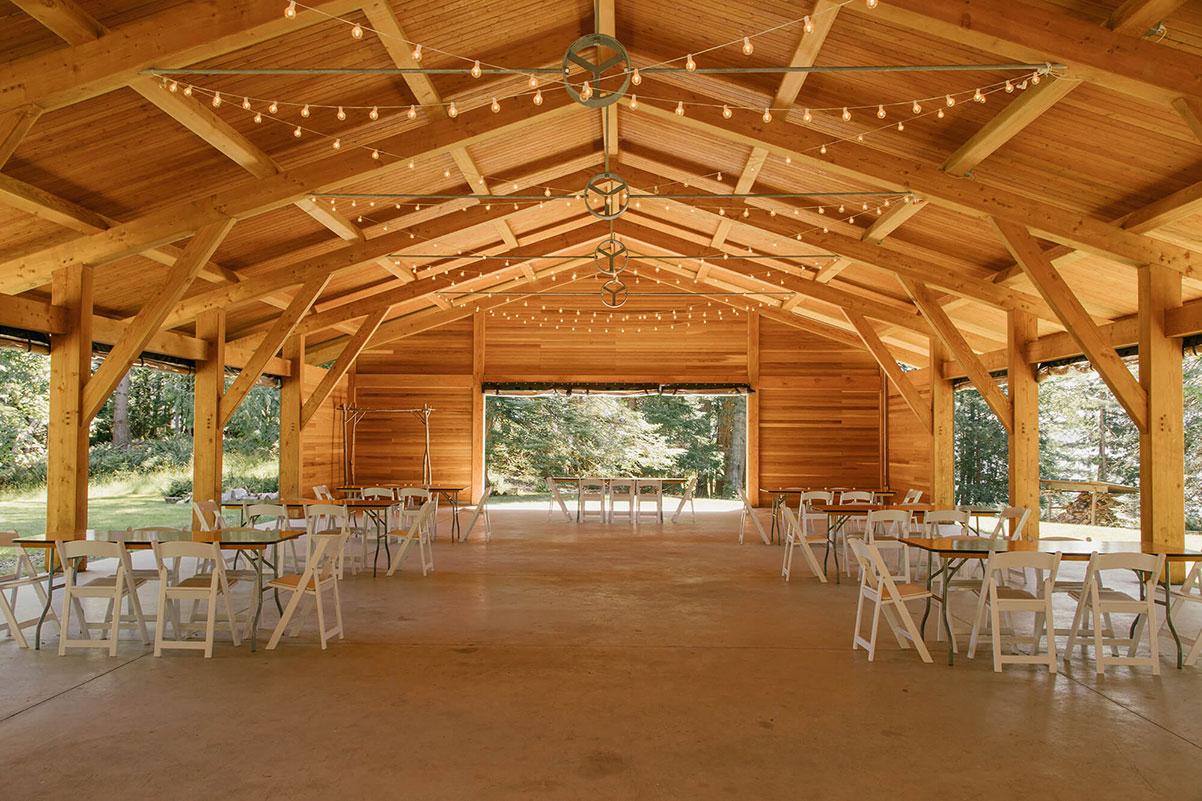 The wedding paviljon