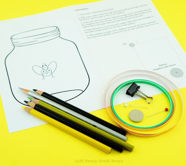 lightning bug paper circuits kids steam stem craft rochelle park libraryu.jpg