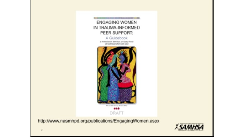 Engaging Women in Trauma-Informed Peer Support is a very helpful book on what Trauma is and how we can all engage to help healing. Download  HERE .