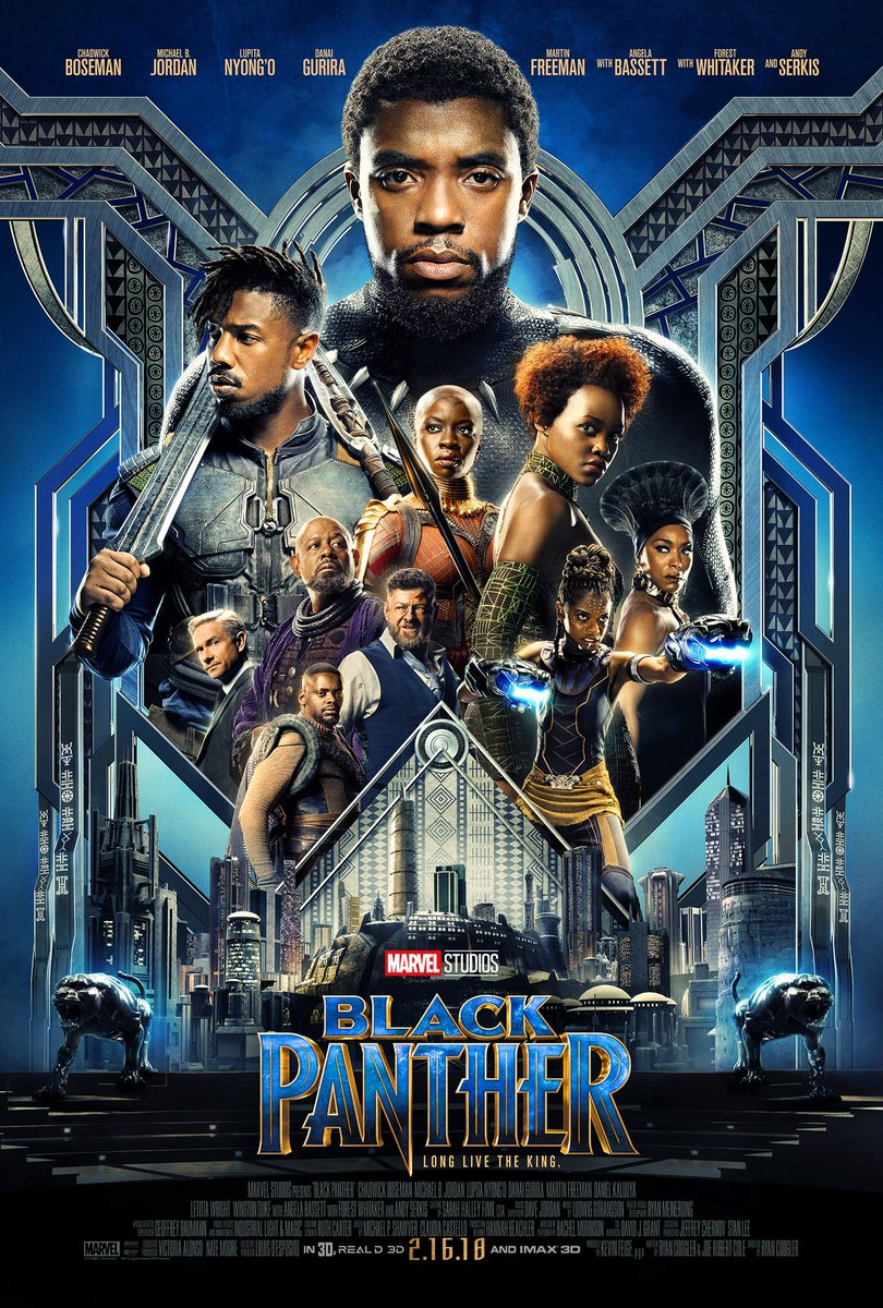 Review of Black Panther - Review of Black Panther- by Kathia WoodsBlack Panther is the movie all of us comic book nerds and sci-fans have been debating at comic book stores and chat rooms all over the world. It's the modern-day version of Generation X 's Star Wars. The movie version of Black Panther moves a bit away from the comic book, but one constant throughout the movie is Girl Power or in this case Woman Power. Black Panther may be the name of the film, but the Women are the secret weapon. Ryan Coogler managed to do something that many other genres have failed to do, that is to place Black Women of different melanin front and center. The powerful Dora Milaje with its dynamic leader Okoye played brilliantly by Dani Gurira and the effervescent Lupita Nyong'o who plays Nakia a spy is not smoke and mirror but essential centerpieces. T'challa aka Black Panther is the guy that gets to wear the crisp suit, but the women are the pulse and conscious of this movie. Michael B. Jordan takes a right turn on the dark side as Erik Killmonger. T'challa aka Black Panther is elegant Killmonger street smarts which add to his mystique. The hidden gem in this movie is Sterling K. Brown. Although he doesn't have much screen time, his role is pertinent to the storyline. Like many, I was wondering how he would fit into the overall storyline once announced that he was part of the cast. His character of N'Jobu set off a series of events that come back to haunt the citizens of Wakanda. Shuri, the tech genius and M'Baku leader of the Jabari Tribe, played brilliantly by Letitia Wright and Winston Duke, both provide humor in an otherwise serious movie. Overall all the characters are fully developed and vital to this movie guaranteeing that Black Panther will be a massive part of the Marvel movie family for years to come.